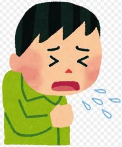 咳喘息のイラスト